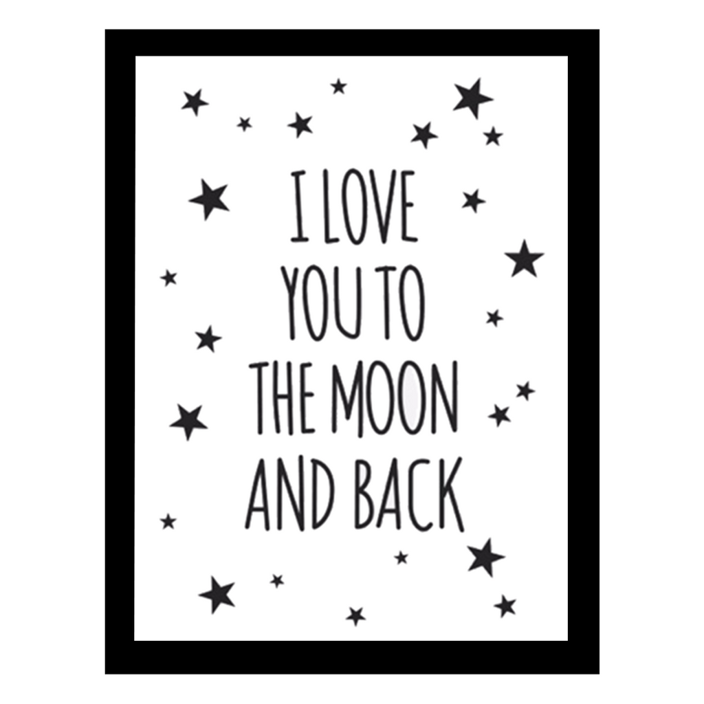 To The Moon and Back White Print