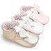 Floral Overall 3pcs Set & Bowknot Princess Shoes Bundle