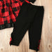 Mica Plaid Overall Skirt + Pants 3pcs Set