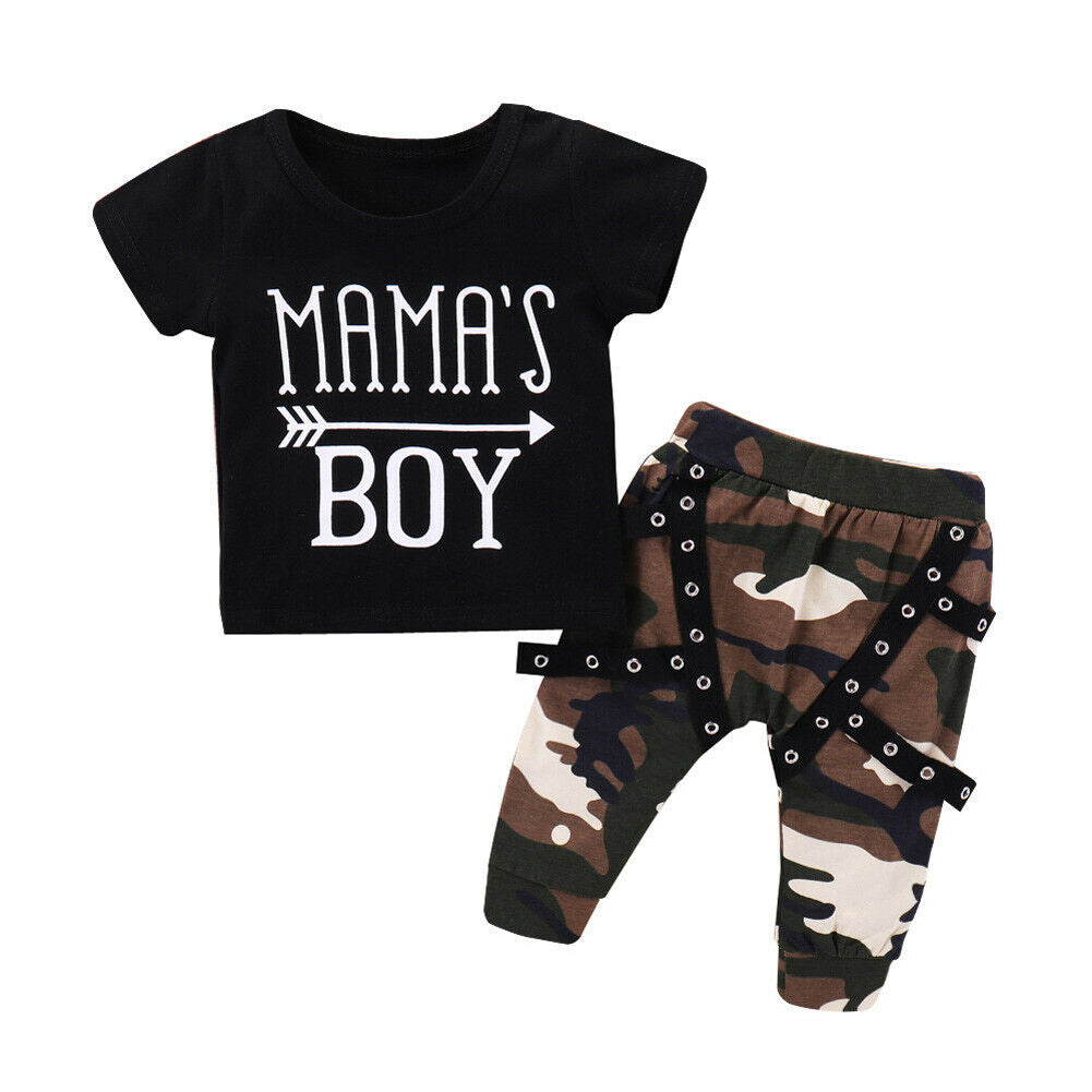 Mama's Boy Top + Camo Pants