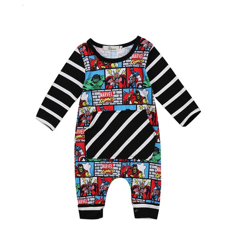 Marvel Stripe Jumpsuit