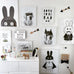 Black Rabbit Wall Print