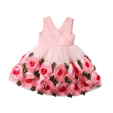 Pink Roses Party Dress