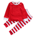 Red and White Striped Pajama Set