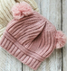 Baby Dual Ball Knitted Hat