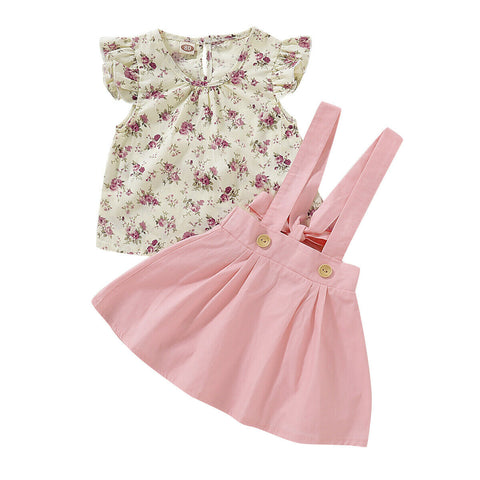 Shirley Floral Top + Overall Skirt