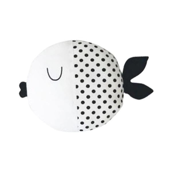 Black & White Fish Cushion