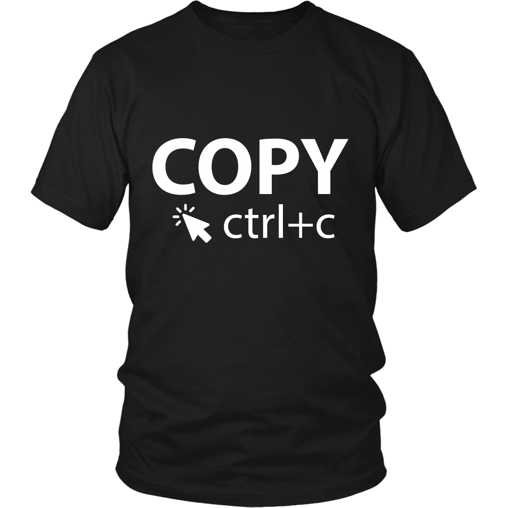 Black & White Copy - Adults Unisex Shirt