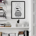Pirate Bunny Wall Print