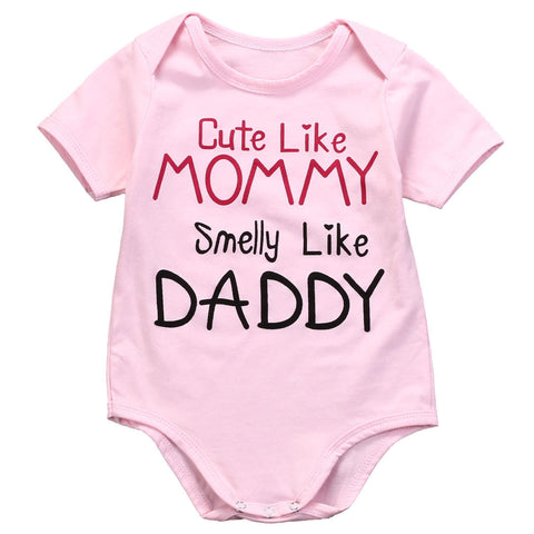 Cute Like Mommy Smelly Like Daddy Bodysuit-FREE