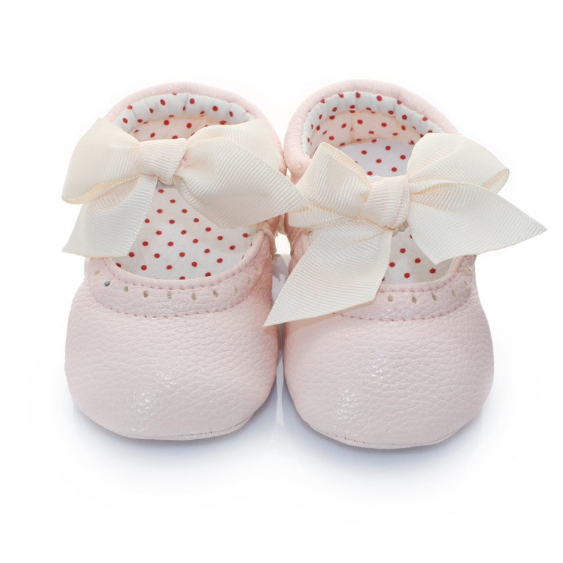 Bowknot Leather Princess Shoes