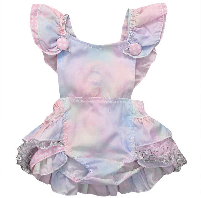 69b44a2545e Colorful Ruffle Lace Romper – Little White Star