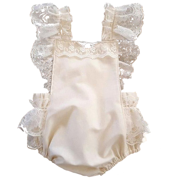 caa7b9c21fe Bella Lace Ruffle Romper – Little White Star