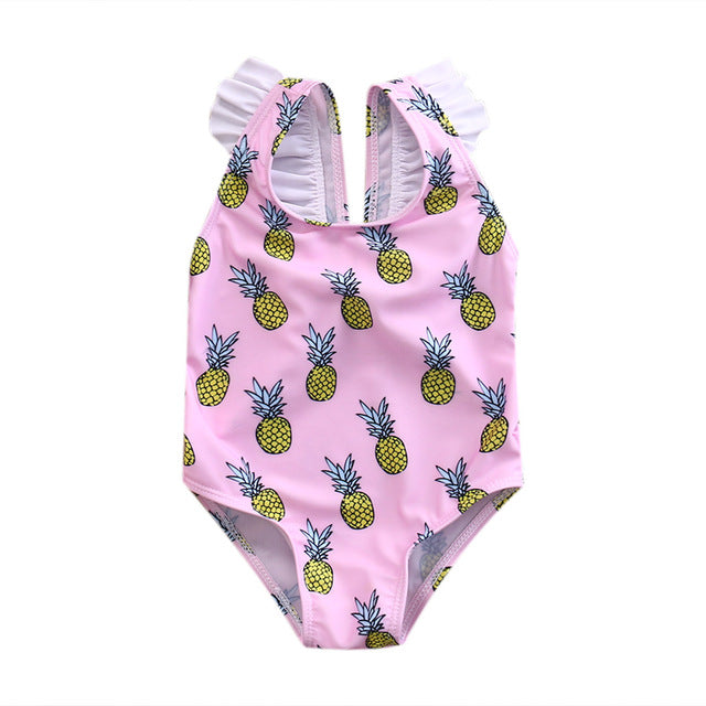 Pink Pineapple Bathing Suit
