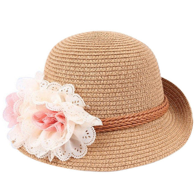 Trendy Floral Straw Hat