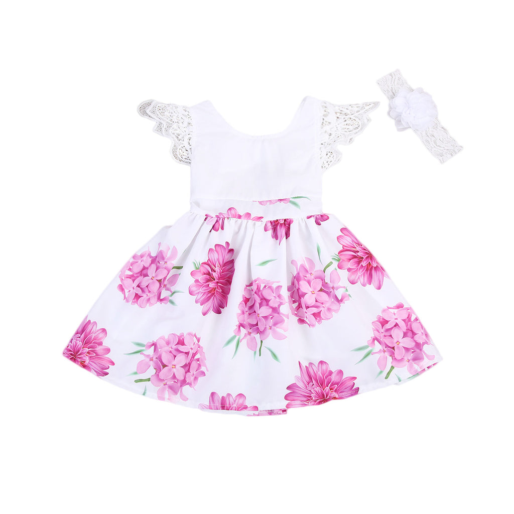 Adriana Floral Dress  + Headband