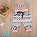 Elephant Bodysuit & Tribal Pants 3pcs Set
