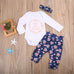 Isn't She Lovely Top & Floral Pants 3pcs Set