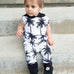 Palm Tree Sleeveless Hooded Jumpsuit