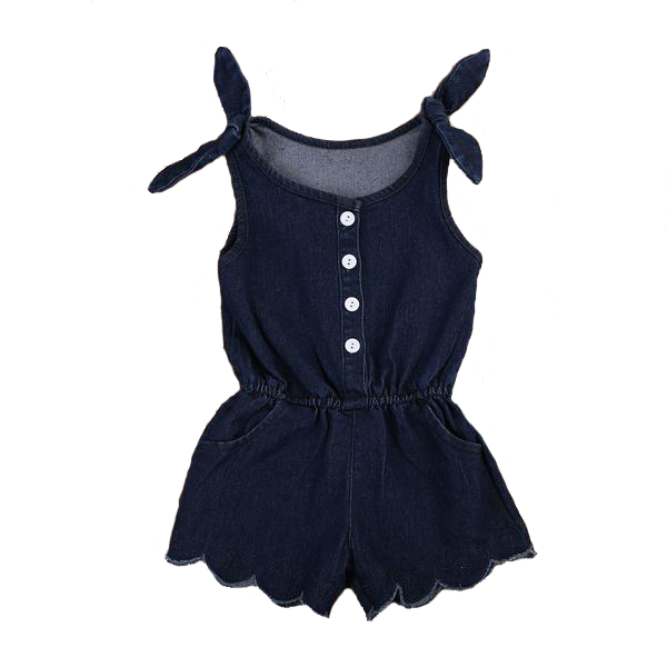 Samantha Denim Romper