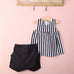 Striped Top + Skort Set