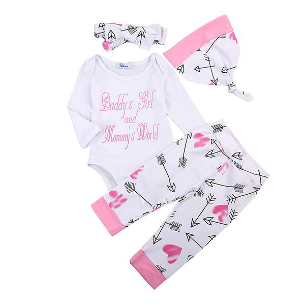 Daddy's Girl & Mommy's World 4pcs Set
