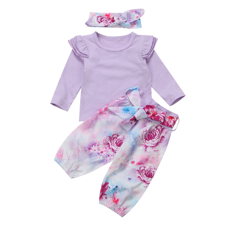 Lavender Floral Clothing Set