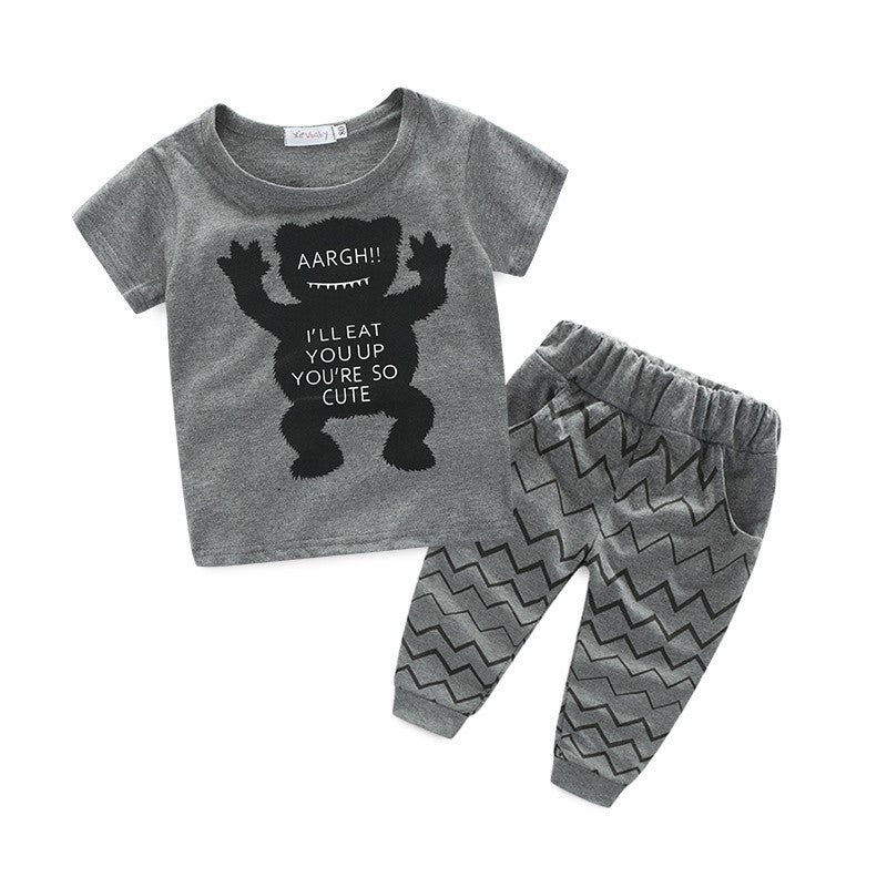 "Monster ""I'll Eat you Up You're So Cute"" Clothing set"