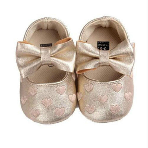 Bowknot Heart Prewalker Shoes