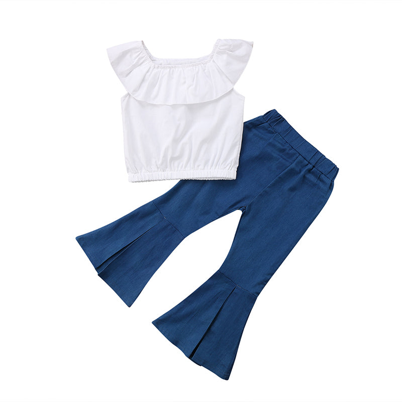Cape Collar Top & Bell Pants