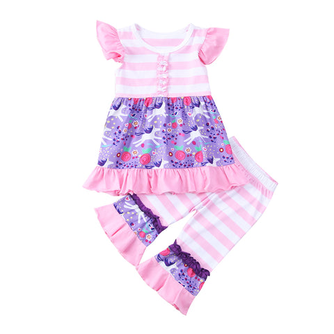 Unicorn Ruffle Mini Dress + Pants