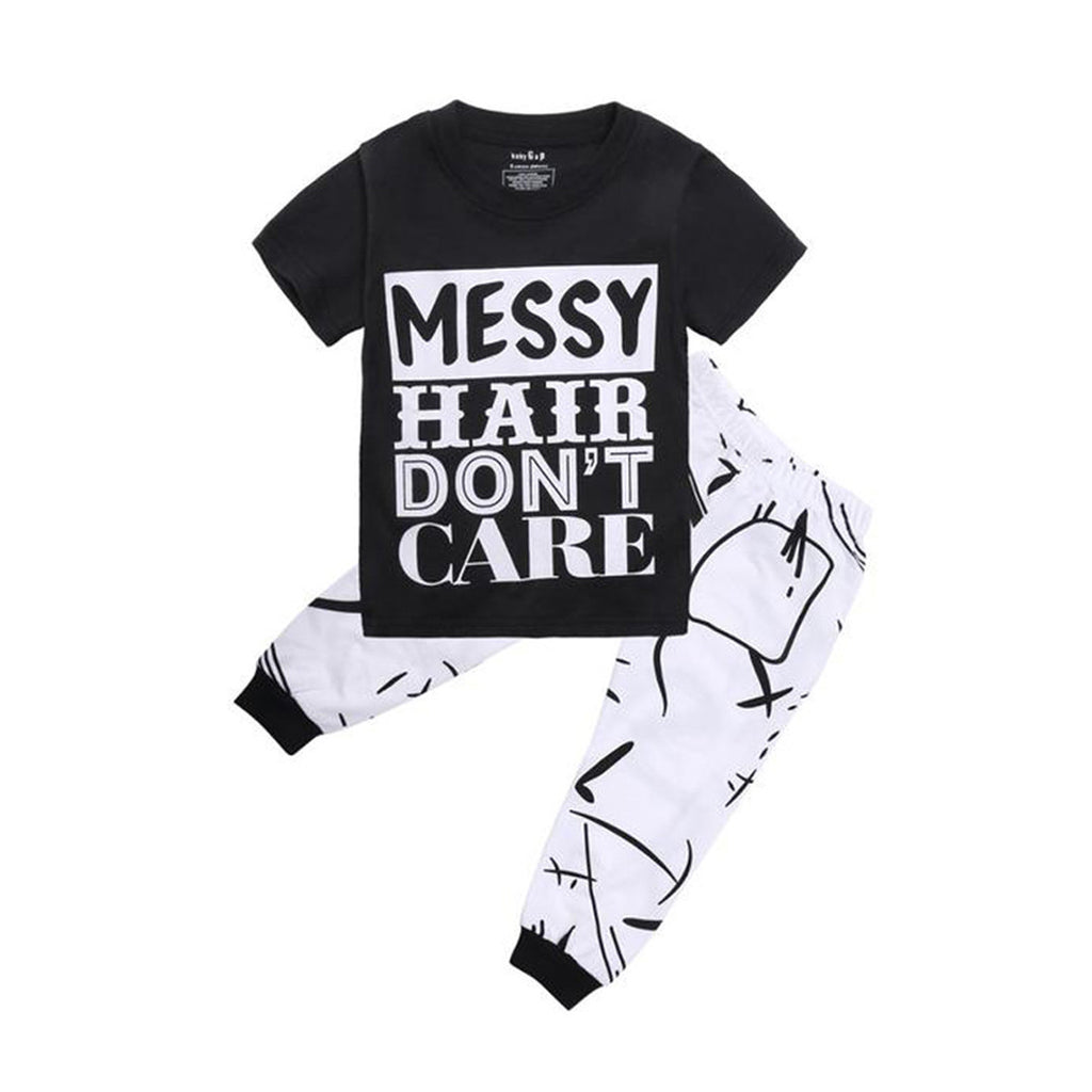 Messy Hair Don't Care Clothing Set