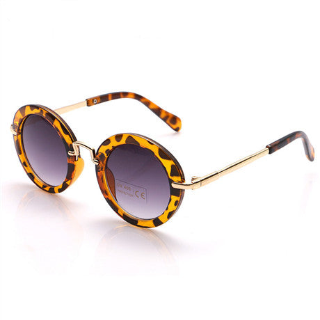Cheetah Kids Round Sunglasses