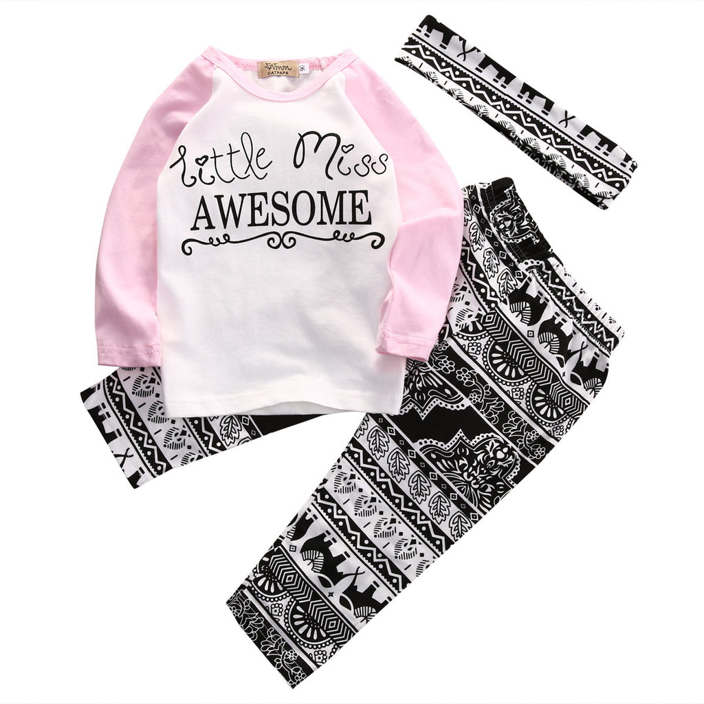 Little Miss Awesome Clothing Set