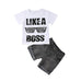 Like A Boss Top + Denim Shorts