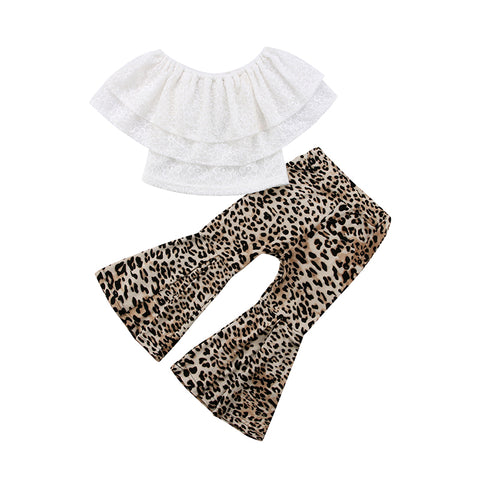 Kiki Layered Top + Cheetah Bell Pants
