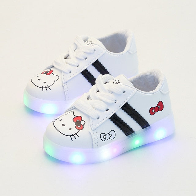 Striped Hello Kitty Light-Up Shoes