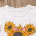 Sunflower Top + Denim Shorts