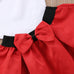 Rose Off Shoulder Top + Red Bow Skirt