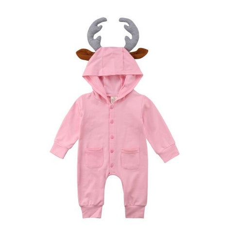Reindeer Hooded Jumpsuit
