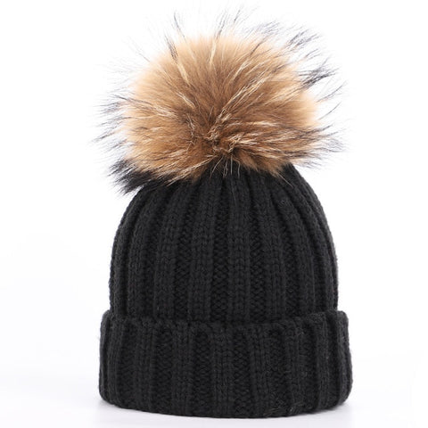 Large Baby Single Pom-Pom Hat