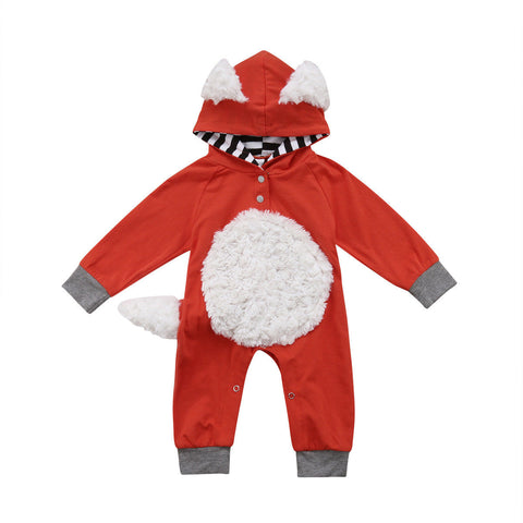 3D Fox Hooded Jumpsuit