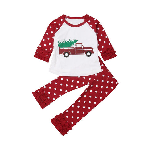 Christmas Tree Truck + Polka Pants