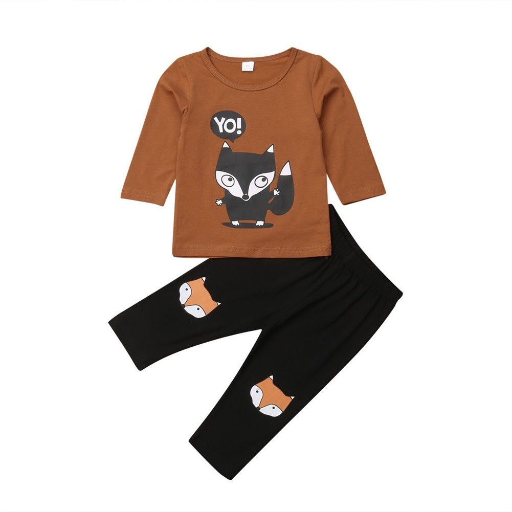 Yo! Fox Long Sleeve Top + Pants