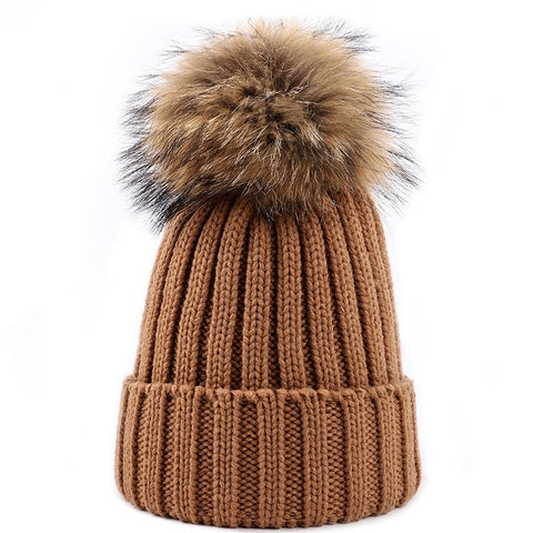 Adult Large Pom-Pom Hat