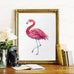 Watercolor Flamingo Wall Print