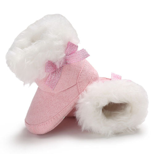 Bowknot Fur Booties