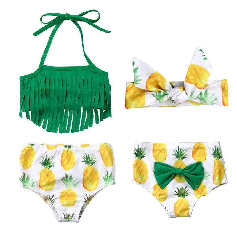 3aeb70dc2 Pineapple Bathing Suit 3pcs Set-Little White Star Official