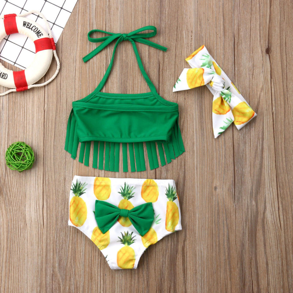 0f0917db69c53 Pineapple Bathing Suit 3pcs Set-Little White Star Official