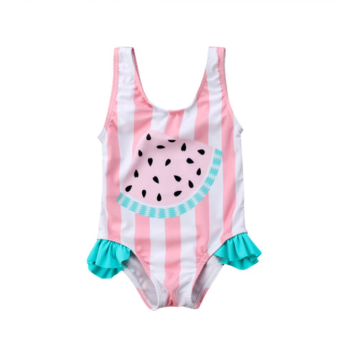 Watermelon Stripe Bathing Suit